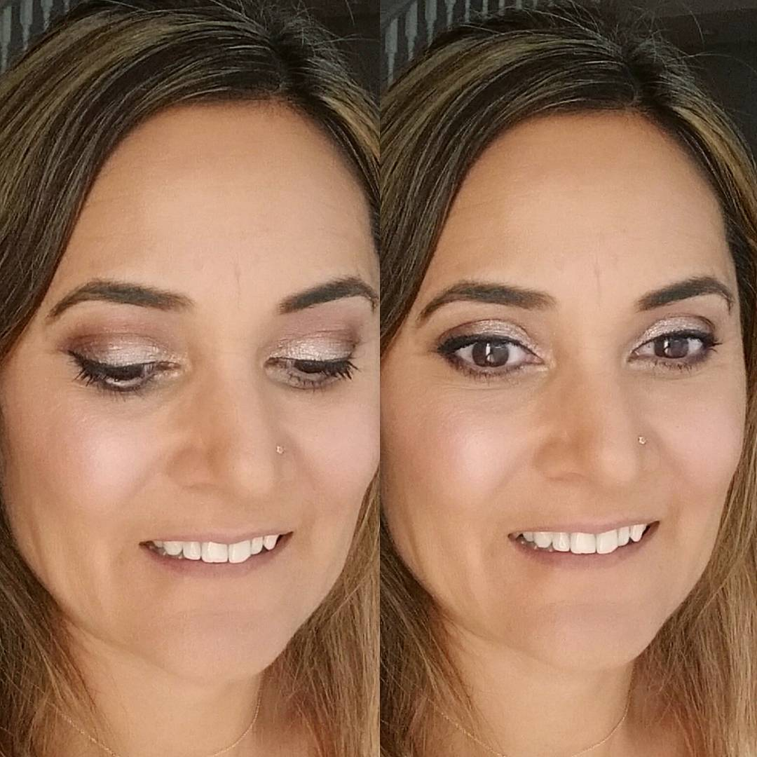 All about the eyes loving this warm coralbrown combo Versatilityhellip