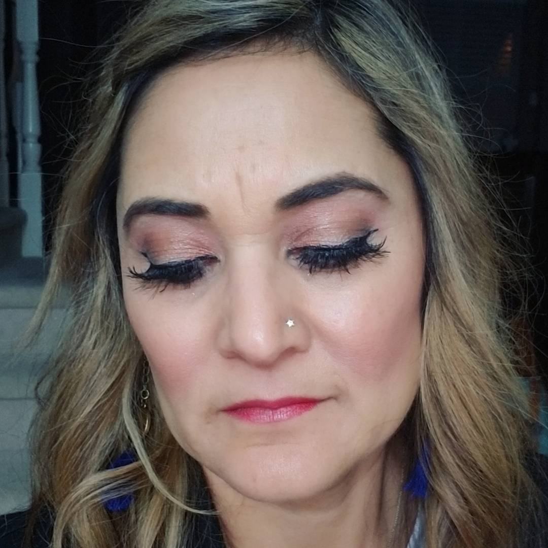 Glam look from last night flutter double layered lashes nowherehellip